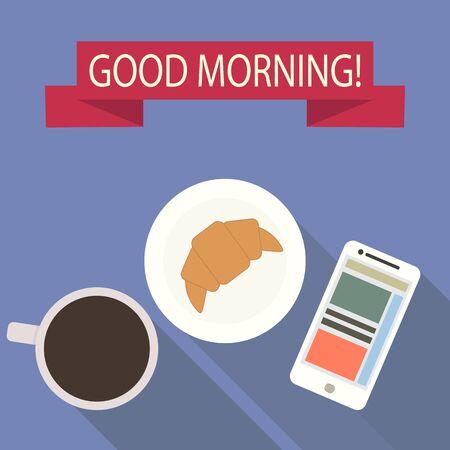 Good morning. Flat design. Vector illustration  Illusztráció