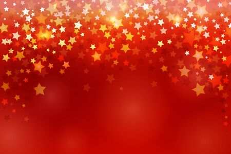 Beautiful red festive background with sparkling stars. Stock vector illustration. Image for your design: greeting cards, banners, posters. Christmas, New Year, February 23, May 9 and other holidays.
