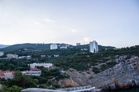 View of the Yalta Black Sea. Crimea, Russia summer Stock fotó