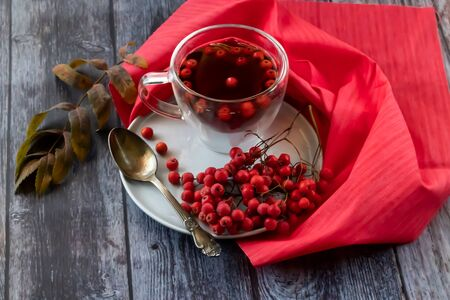 Hot healing tea, mountain ash tea. Applied with a lack of vitamins, anemia, metabolic disorders. Reduces the level of harmful cholesterol in the blood, strengthens blood vessels