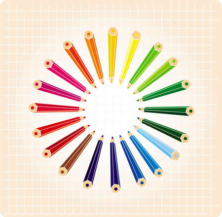 Vector illustration of colour pencils Vector