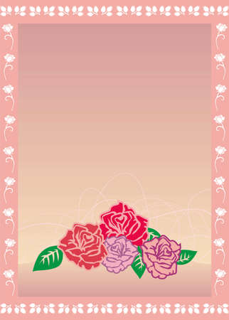 Vector illustration of roses card Stock Vector - 3123480