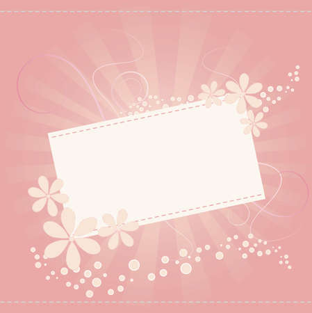 Flower card for special occasions Illustration