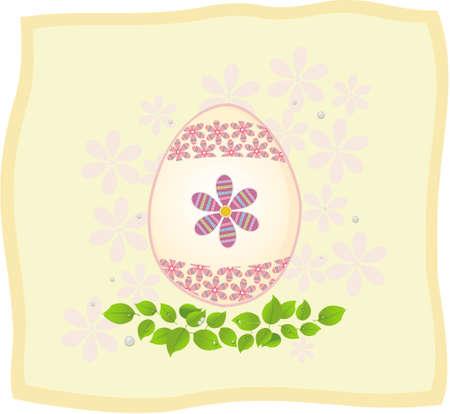 Easter eggs on the light background