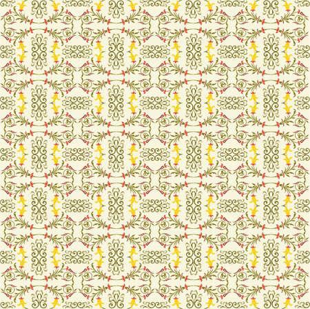 Floral vector pattern  Illustration