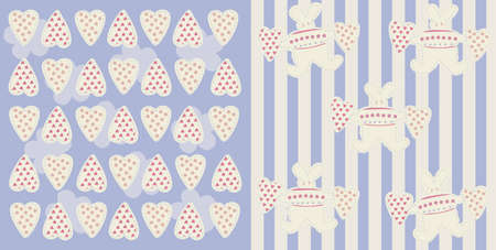 vector illustration of babe blue pattern