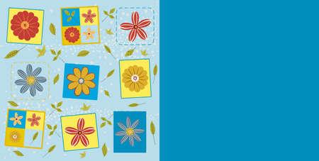 Illustration of floral vector pattern