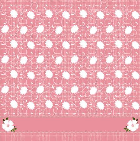 Vector illustration of pink floral pattern  Illustration