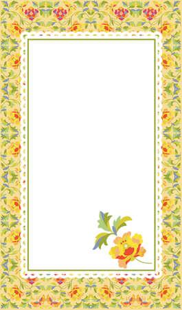 Vector illustration of flower pattern card Vector