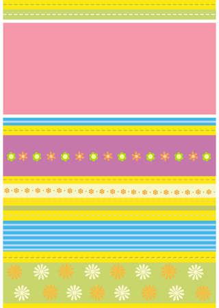 Vector illustration of flower pattern card Illustration