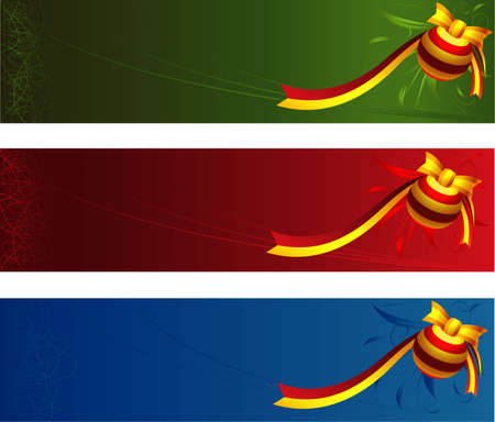 Christmas banners with space for your text Illustration