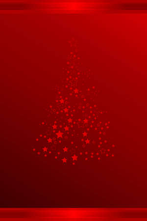 Vector illustration of Christmas tree with stars