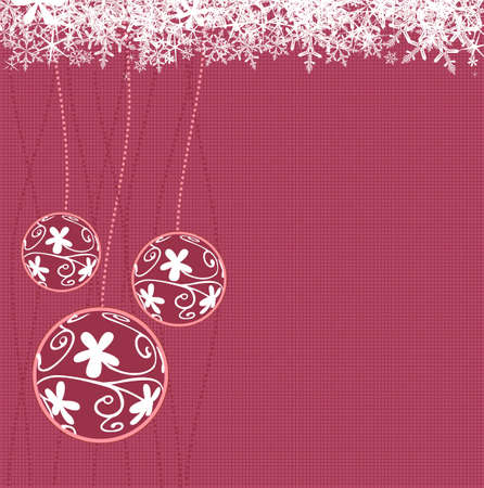 Vector illustration of Christmas balls with snowflakes