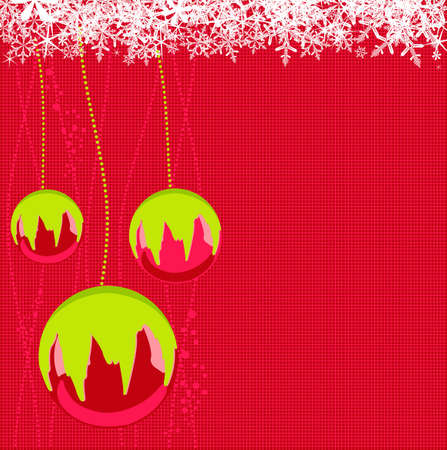 Vector illustration of Christmas balls with snowflakes Stock Vector - 3876812