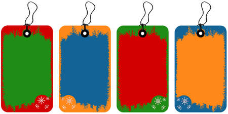 Vector illustration of tags with decoration elements for Christmas Illustration
