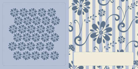 Vector illustration of blue pattern card for special occasions Illustration