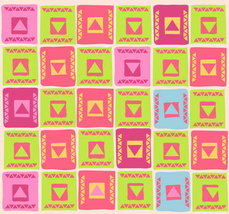Vector illustration of colourful pattern with geometric shapes