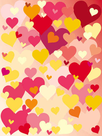 vector illustration of valentines background with hearts