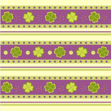 Vector illustration of Saint Patricks Day pattern Illustration
