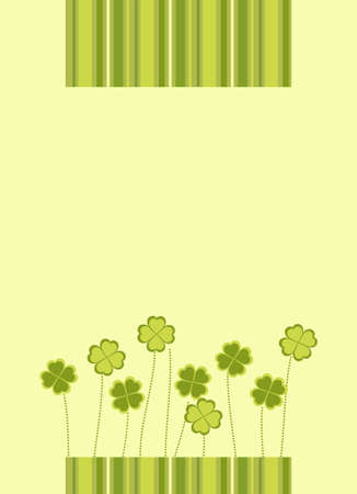 four fourleaf: Illustrazione vettoriale di Saint Patrick's Day carta Vettoriali