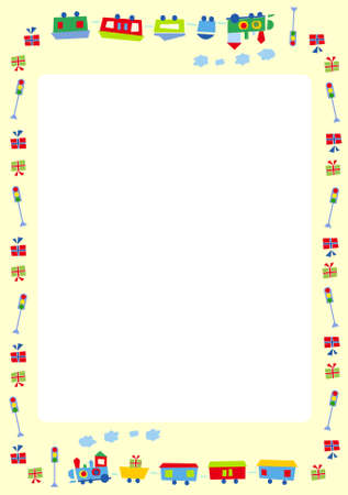 Vector illustration of cute photo frame for kids and special occasions