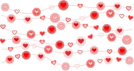 Vector illustration of valentine background with heart