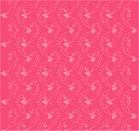 Vector illustration of love pattern with hearts Illustration