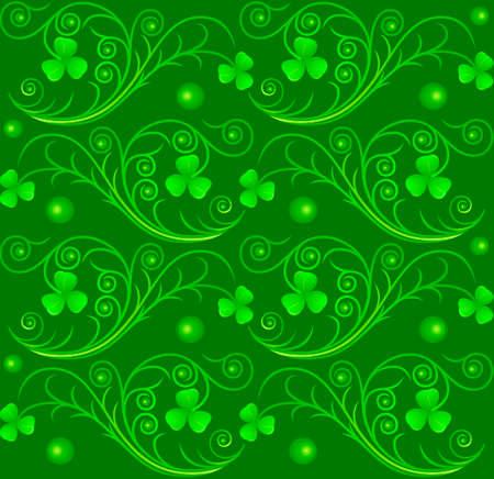 irish culture: Vector illustration of Saint Patricks Day pattern Illustration