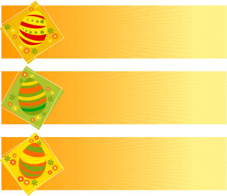 Vector illustration of Easter banners with eggs Illustration