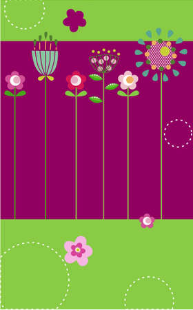 Vector illustration of flower card for special occasions Illustration