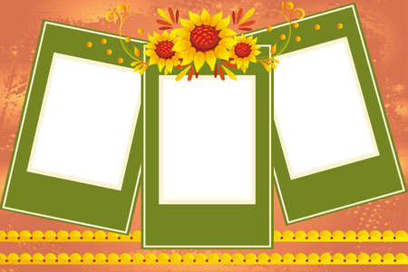 Vector illustration of sunflowers frame for special occasions
