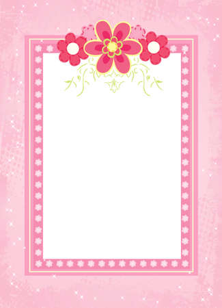 Vector illustration of flower frame for special occasions