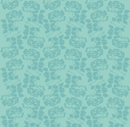 beautiful pattern with rose flowers on blue background Illustration