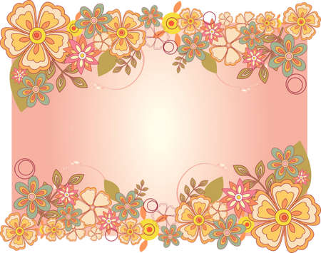 Vector illustration of Spring flower card for special occasions
