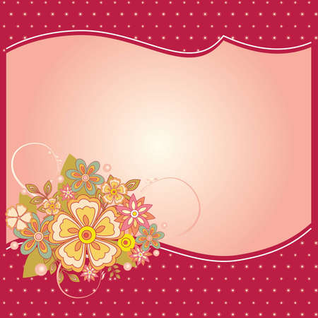 festivities: Vector illustration of flower card for special occasions Illustration