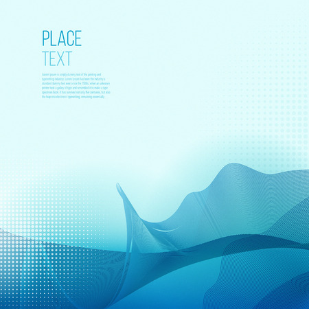 bluelines: Abstract smooth color wave vector. Curve flow blue motion illustration. Smoke blue wave design. Vector lines.