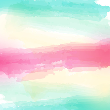 Watercolor striped vector stylized background element for print, blank
