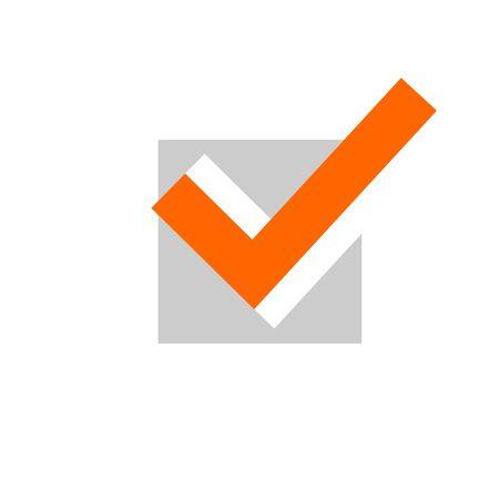 Check mark icon. Tick symbol in green color, vector illustration. Confirm signe