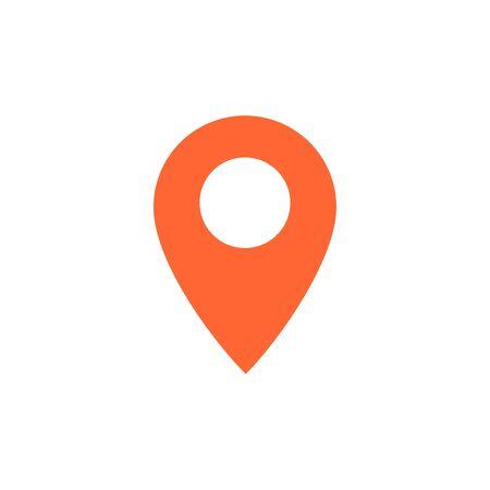 Zielvektorsymbol. Kartenzeigersymbol. Vektorillustration für Webdesign und mobile App Vektorgrafik