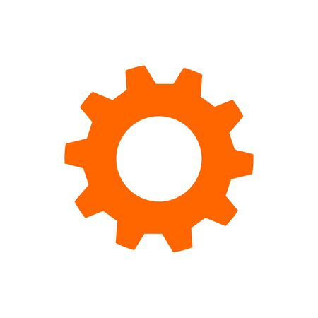 Project management vector icon. Hub and spokes and gear solid icon. Vector illustration for web design and mobile app. Ilustracja