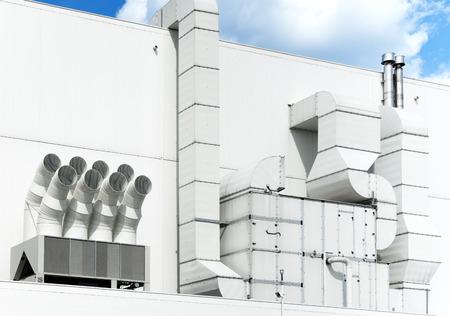 aeration: Supermarket ventilation system Stock Photo