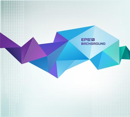 abstract: vector kleurrijke kristal modern banner, vorm, achtergrond Stock Illustratie