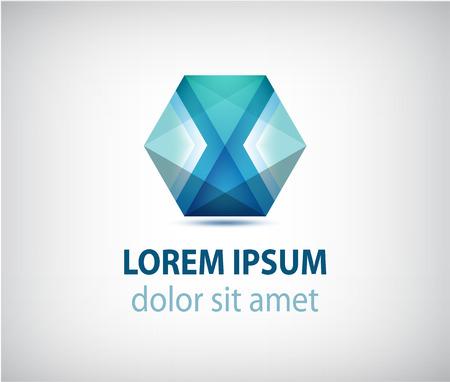 construction companies: vector abstract polygon futuristic blue icon Illustration