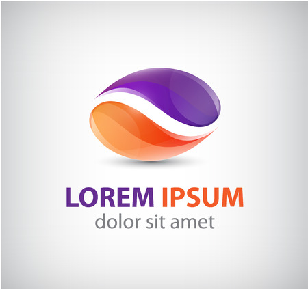 vector abstract 2 dual partnership icon, logo isolated 일러스트