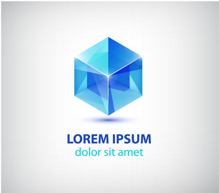 vector abstract modern 3d cube construction 일러스트
