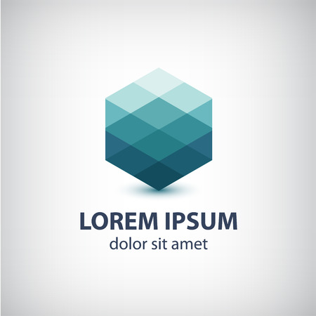 vector crystal abstract icon