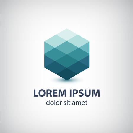 gestalten: Vektor-Kristall abstrakten Symbol