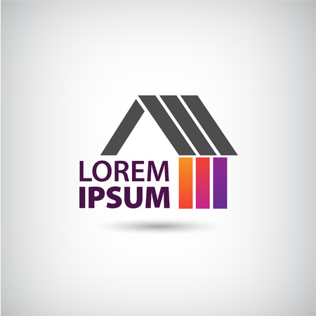 sell house: vector house icon for company, icon isolated, identity