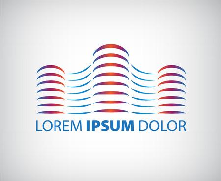 logo batiment: lignes de vecteur d'immeubles de bureaux, l'entreprise icône, icône isolé Illustration