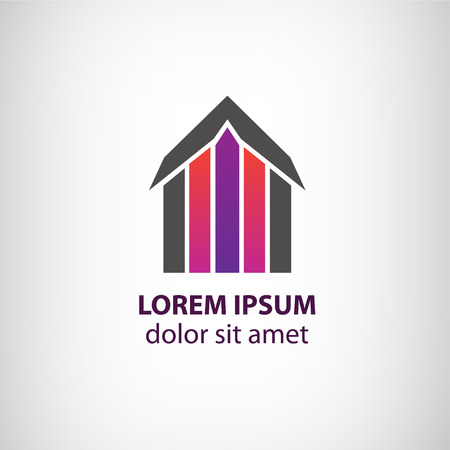 home construction: vector house icon isolated, identity